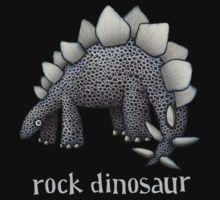 Rock Dinosaur T-Shirt Dinosaur cartoons stegosaurus Bowser, Greeting Cards, Rock, Creative, Prints, Cartoons, Stuff To Buy, Collections, Store