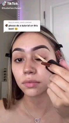 Makeup Eye Looks, Cute Makeup, Pretty Makeup, Black Girl Makeup, Girls Makeup, Contour Makeup, Skin Makeup, Maquillage Black, Hair Skin Nails