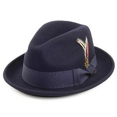 b616f91ac31 Jaxon   James Crushable Blues Trilby Hat - Navy