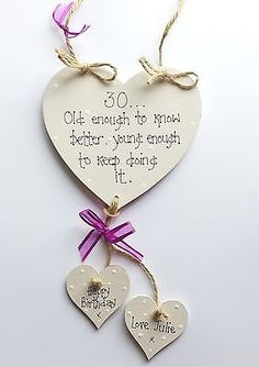 Personalised 30th 40th 50th Birthday Friend Sister Plaque Sign Gift Keepsake