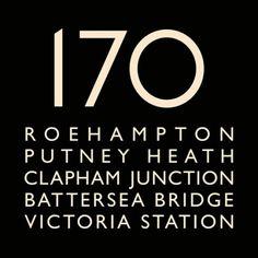 London Bus Blind Bus Route 170