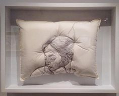 Brilliant Anthropomorphic Portraits of Sleeping People Embroidered Onto Handmade Pillows