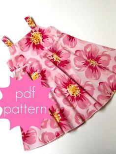 Circle Flounce Dress Size 6-14 Downloadable Sewing Pattern by Jocole