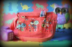 Sac messager pour enfant - Sac à bandoulière paon - Sac à main orange - Étui pour tablette de la boutique Mafelou sur Etsy