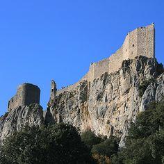 Château de Peyrepertuse, Aude (France)    http://www.pinterest.com/adisavoiaditrev/boards/