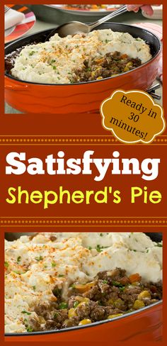 Shepherd's Pie is classic comfort food at its best, and with our recipe you don't need more than 30 minutes to make it. It's great to have convenience ingredients!