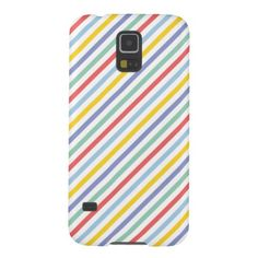 Spring Rainbow Stripes Pattern Samsung Galaxy S5 Covers