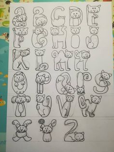 Letras - Letras Letras Letras Welcome to our website, We hope you are satisfied with the content we offer. Hand Lettering Alphabet, Doodle Lettering, Creative Lettering, Fancy Letters, Bubble Letters, Cat Crafts, Mail Art, Word Art, Coloring Pages