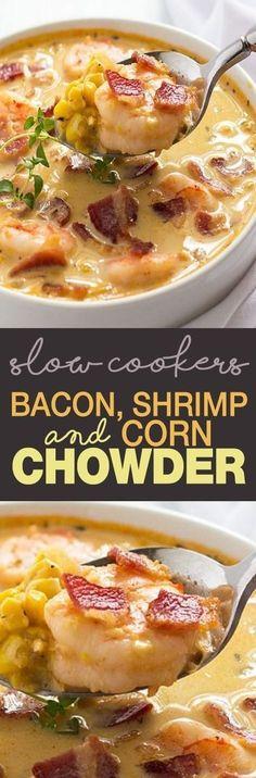 Weight Watcher's Bacon Shrimp & Corn Chowder!!! - 22 Recipe