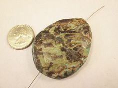 Jasper Bead Ocean Jasper Turquoise Brown Slab by FLcowgirls #beads