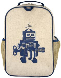 Grade School Back Pack - Blue Robot Purchase from zoolittles.com.au
