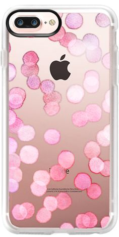 Casetify Protective iPhone 7 Plus Case and iPhone 7 Cases. Other Spot iPhone Covers - Pink Watercolor Dots by Micklyn Le Feuvre | Casetify