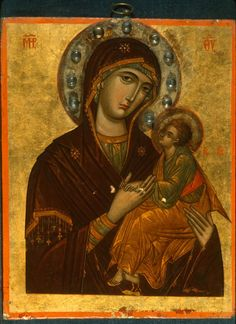 Icon - Madonna and Child Byzantine Icons, Byzantine Art, Religious Icons, Religious Art, Religious Paintings, Best Icons, Madonna And Child, Icon Collection, Orthodox Icons