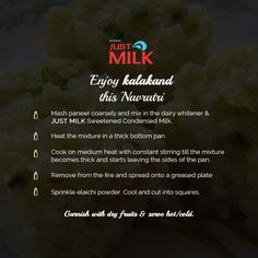 Enjoy Navaratri Fast with Dishes made from Just Milk. http://goo.gl/ZCtBWJ