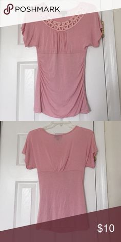 Light pink Blouse Form-fitting. Worn once or twice. No rips/tears/stains BCX Tops Blouses