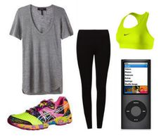 Comfy cute exercise outfit
