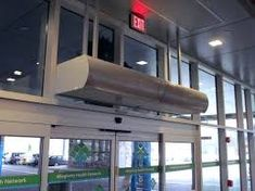 At Berner, we make air curtains. When the door is open, an air curtain (air door) saves energy and creates healthy, comfortable environments. Cute Curtains, Door Curtains, Curtain Door, Custom Made Curtains, Cost Saving, Small Cafe, Single Doors, Luxury Homes, Minimalism