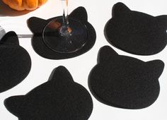 A fun new addition to my shop! CATS! The purrfect coaster for cat lovers with all the luxury and beauty of ultra thick 100% German Merino Wool Felt.  Set of 5. Shown in Black, but available in any of my 3mm colors or combinations.   A generous 4.25 x 4.25 surface fits everything from your delicate stemware to your heftiest coffee mug.  100% Wool Felt is sustainable, renewable, eco-friendly, recyclable and just plain gorgeous!  Spot clean, dry clean or hand wash cold.  10% of proceeds on all…
