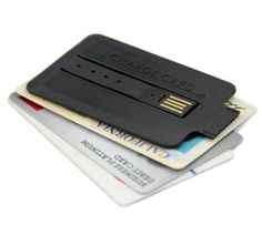 ChargeCard - Slim USB Cable, Credit Card Sized - Want it? Own it? Add it to your profile on unioncy.com #gadgtes #tech #electronics