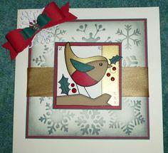 Woodware Robin Christmas Tag, Christmas 2019, Christmas Crafts, Xmas, Watercolor Christmas Cards, Watercolor Cards, Christmas Inspiration, Daisy, Projects To Try
