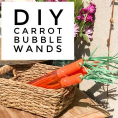 DIY Carrot Bubble Wa