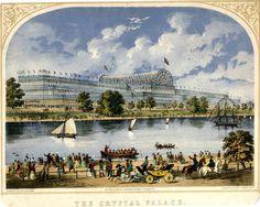 Crystal Palace, Hyde Park, Glass Building, Palace London, London History, Forest Hill, Ancient Buildings, Le Palais, Exhibition