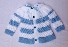 Casaquinho de trico - bebê 0 a 11 meses