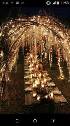 Pretty outdoor dinner set , mystical