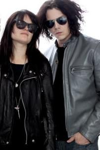 Alison Mosshart and Jack White of The Dead Weather