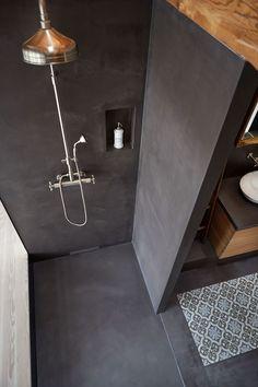 95 magnificient scandinavian bathroom design ideas that looks cool page 17 Scandinavian Bathroom Design Ideas, Bathroom Interior Design, Bad Inspiration, Bathroom Inspiration, Modern Bathroom, Small Bathroom, Cement Bathroom, Concrete Shower, Bathroom Renos
