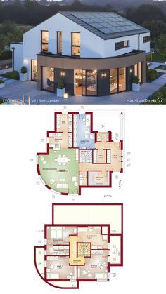 House Floor Design, Sims 4 House Design, Dream Home Design, Morrocan Architecture, Modern Architecture House, Architecture Plan, House Plans Mansion, Bungalow House Plans, Dream House Plans