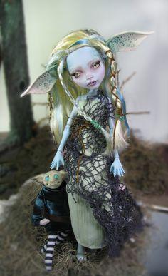 Laguna blue Goblin ooak repaint by NickiiRose