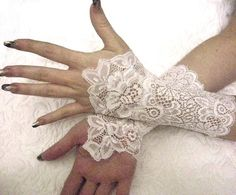 Pretty lace gloves.