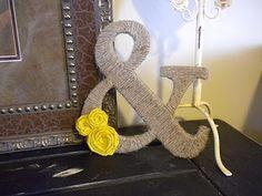 DIY: jute rope ampersand