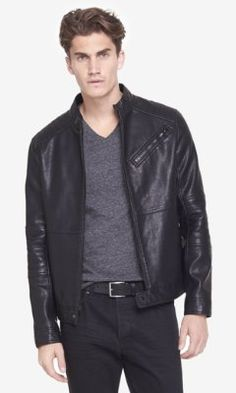 (minus the) leather biker system jacket from EXPRESS