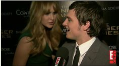 Finally! I've been looking for this video...Jen interrupts Josh's interview to ask about his rash. hahaha