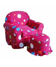 Take a look at this Hot Pink Club Chair & Ottoman by Kinfine on #zulily today!