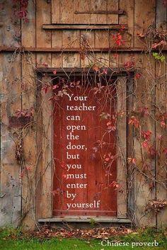 Your teacher can open the door but...