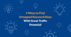 But most SEOs/marketers rely on the same tools (e.g. Google Keyword Planner) for keyword ideas and thus, many people often end up targeting the same small