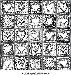 Image result for adult coloring pages hearts