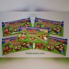 """Mein Produkttest """"Paula Fleckenkuchen"""" ist angekommen Dabei ist vier mal  """"Paula Fleckenkuchen"""" mit Vanille-Pudding-Flecken. Ist eine Kombination von Schokoladen-Rührkuche…"""