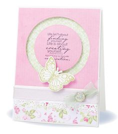 Make a beautiful whirling butterfly card of your own with Debbie Simpson's penny slider card design.
