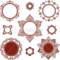 mehndi henna circles medallions