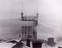The Telefontornet, which connected 5,000 phone lines in Stockholm. [1890]