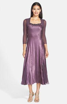 Komarov Beaded Charmeuse & Chiffon A-Line Dress available at #Nordstrom