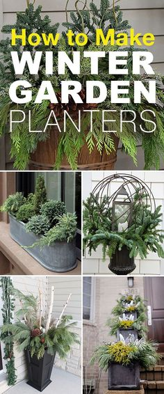How to Make Winter Garden Planters! u2022 These easy winter planter ideas tips and & 50 Winter Decorating Ideas | Pinterest | Winter Holidays and Decorating