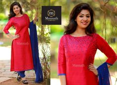 Salwar Neck Designs, Churidar Designs, Kurta Designs Women, Dress Neck Designs, Blouse Designs, Hand Embroidery Dress, Kurti Embroidery Design, Kurta Patterns, Salwar Pattern