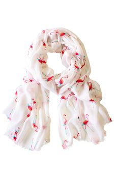 Look what I found on White & Pink Flamingo Scarf by Printed Village White Flamingo, Flamingo Print, Pink Flamingos, Flamingo Party, Look Chic, Boutique, Designer Collection, Pretty Outfits, Pretty Clothes