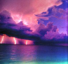 Storm Clouds Lightning | LIGHTNING STORM OVER THE SEA, CLOUDS, FORCE, LIGHTNING, NATURE, OVER ...
