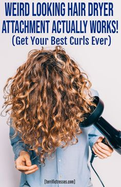 Tips for using a hair diffuser to produce pretty, frizz free curls with volume and texture. Dry Curly Hair, Curly Hair Tips, Hair Care Tips, Curly Hair Styles, Fast Hairstyles, Pretty Hairstyles, Wavy Hair Problems, Hair Diffuser, Voluminous Curls